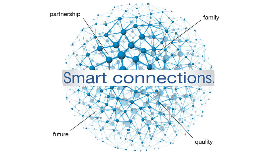 "Our philosophy ""Smart connections."""