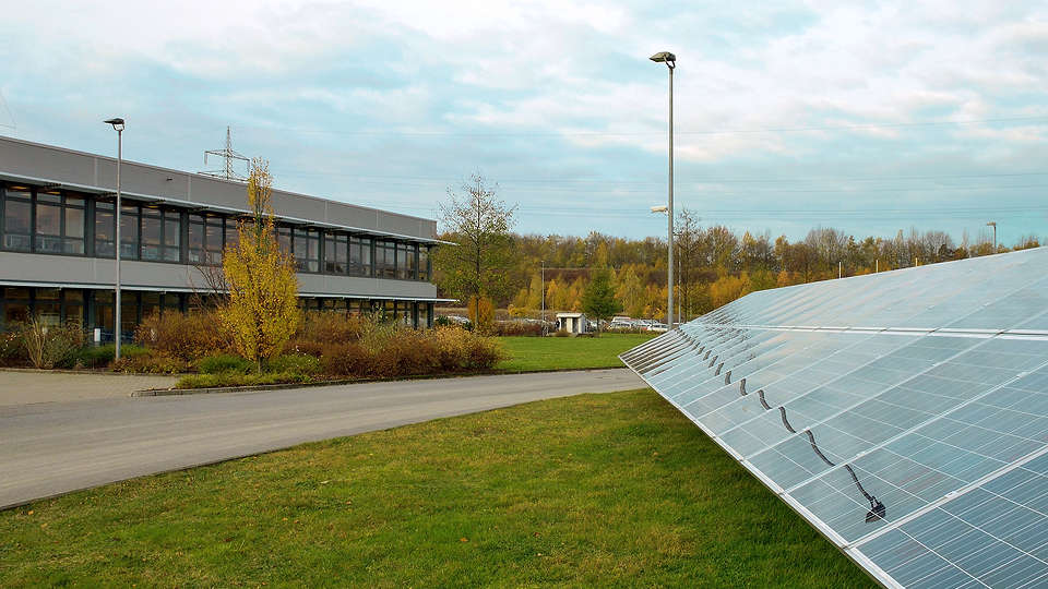 KOSTAL company building with photovoltaics in Hagen, Germany